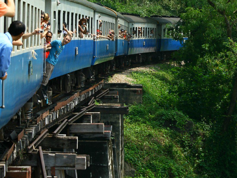 River Kwai 2 Day, Elephant Bath, Train, Erawan falls (p7)