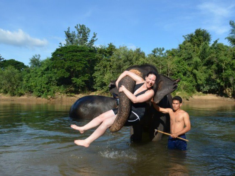 River Kwai 3 Day, Elephant bath, Train, Erawan, Kayaking, Hellfire Pass (P12)