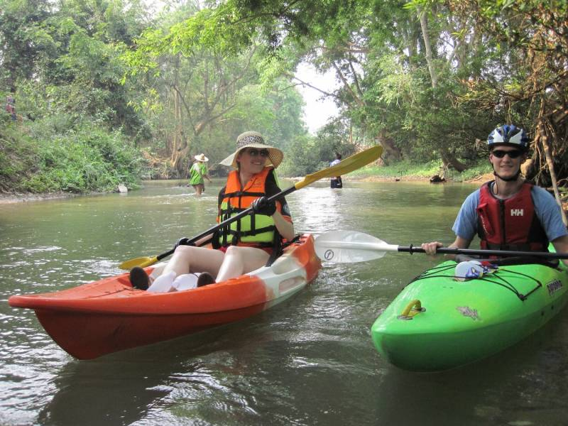 River Kwai 2 Day Kayaking + Erawan falls (p2)